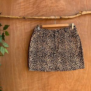 Motel rocks printed cheetah broomy skirt
